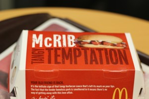 McRib Boxing, mcrib, mcrib box, mcdonalds mcrib, box for the mcrib