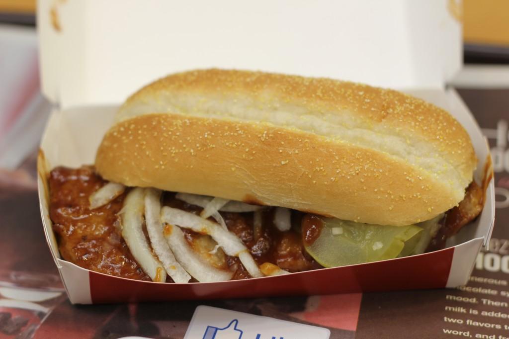 McRib Closeup, mcdonalds mcrib, pickles, onions, barbecue, rib, mcrib