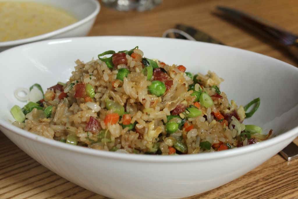 Elegant pork fried rice